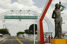 Pórtico de acesso ao município de Poço das Trincheiras