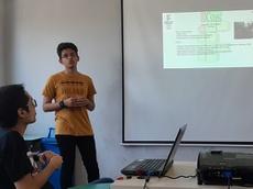 Jair Brian Oliveira apresentou as atividades do Núcleo de Divulgação científica do Instituto Federal de Alagoas.jpg